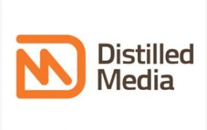 Distilled media logo